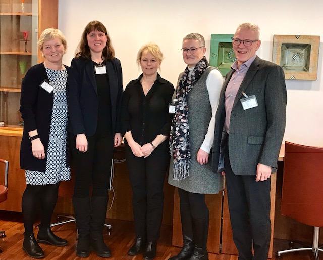 F.v: Joran Slaaen, Anne-Tove Brenne, Åse Michaelsen, Trude Kristiansen og Peder Broen